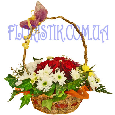 Flower Basket Holiday. Buy Flower Basket Holiday in the online store Floristik
