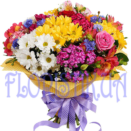 Bouquet bright beam ― Floristik — Shop online flower delivery all over Ukraine.