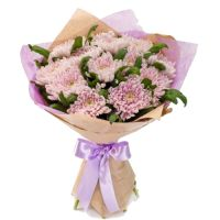 Lilac Bouquet of chrysanthemums