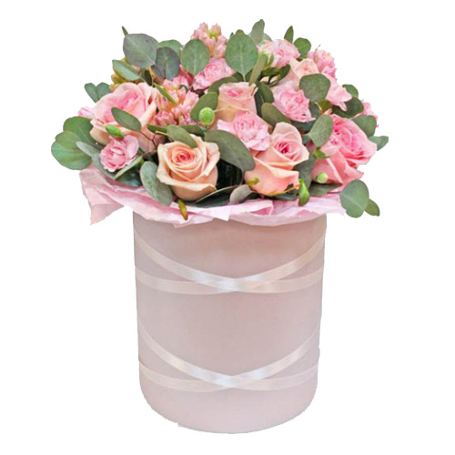Box of pink happiness ― Floristik — Shop online flower delivery all over Ukraine.