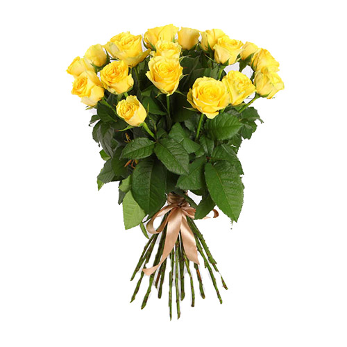 17 yellow roses. Buy 17 yellow roses in the online store Floristik