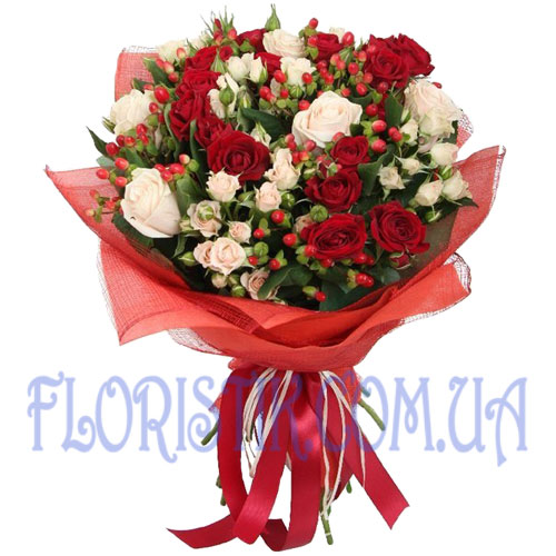 Color of Love Bouquet ― Floristik — Shop online flower delivery all over Ukraine.