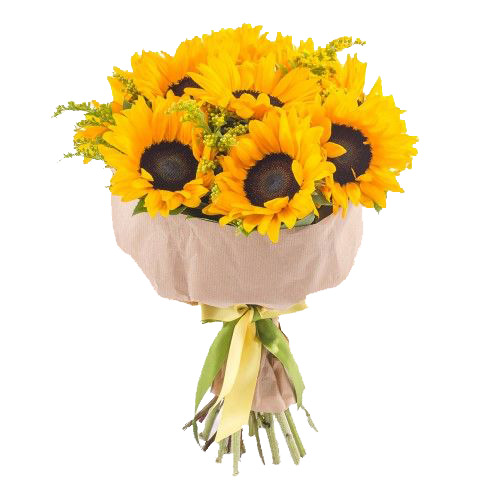 Bouquet of sunflowers ― Floristik — Shop online flower delivery all over Ukraine.