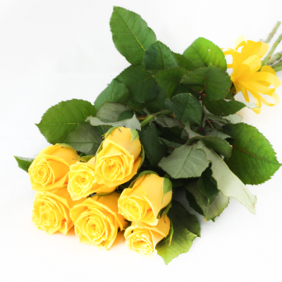 Bouquet colorful roses ― Floristik — flower delivery all over Ukraine