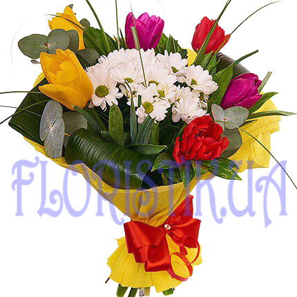 Bouquet of of spring sun ― Floristik — Shop online flower delivery all over Ukraine.