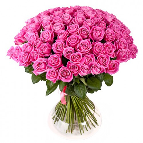 Bouquet of 75 pink roses ― Floristik.ua — Shop online flower delivery all over Ukraine and the world