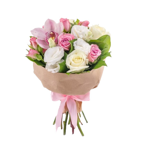 Bouquet Vanilla flavor ― Floristik.ua — Shop online flower delivery all over Ukraine and the world