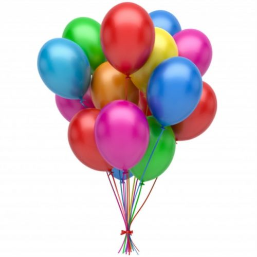 11 colorful helium balloons pearlescent ― Floristik — flower delivery all over Ukraine