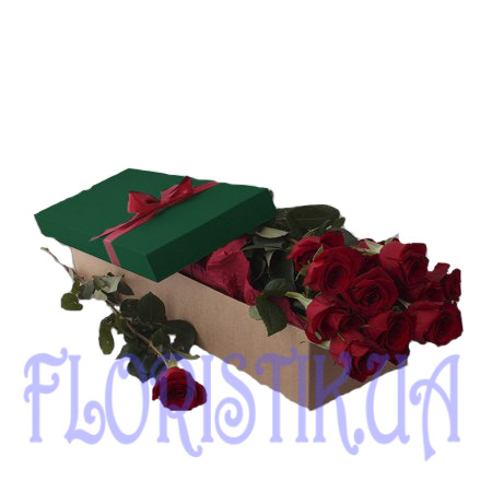 A box of 11 red roses ― Floristik — Shop online flower delivery all over Ukraine.