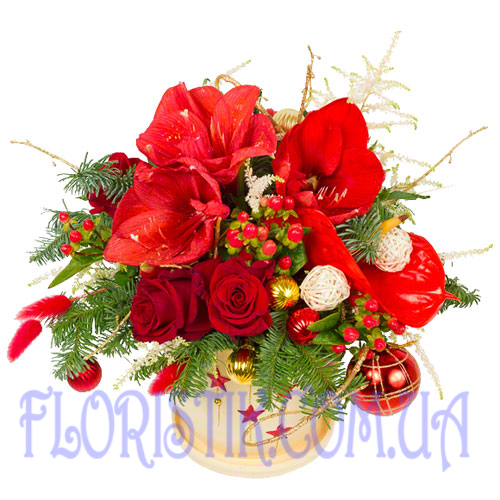 Composition of a winter day ― Floristik.ua — Shop online flower delivery all over Ukraine and the world